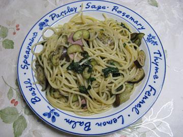 なすとバジリコのスパゲッティ
