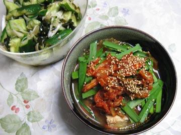 鶏と魚介のWスープチゲ