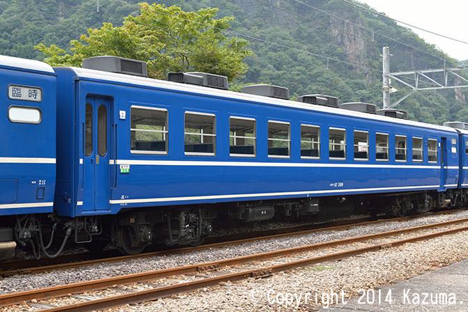 急行形座席客車12系のオハ12形(オハ12 369)