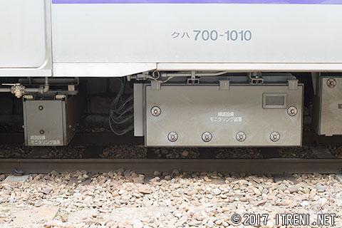 線路設備モニタリング装置(クハ700-1010)